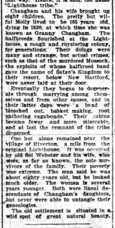 1901 Aug 9 Geneva Daily Times - Origin of the Lighthouse Tribe of Connecticut Part 2 of 2