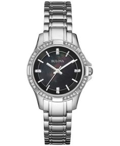 Bulova Women's Stainless Steel Bracelet Watch 30mm 96L214 | macys.com
