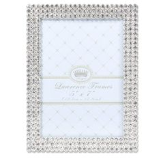 5x7 Juliet Silver Metal Frame With Crystals