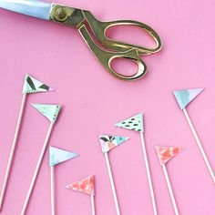 DIY Crafting - Reed Diffuser Flags  by OMC   oh em cee
