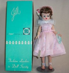 The Vogue Doll Company issued a new teenage doll in 1957. Her name was Jill and she was promoted as Ginny's big sister.