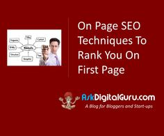 On Page SEO is the key to rank your website on the first page of the search engines? Learn the quick tips to rank on page 1.