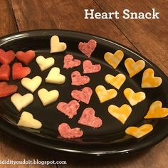 Social Media Plan - Gather a mini heart cookie cutter ( Click HERE for an option),  a platter, and several different types of food that your child woul...