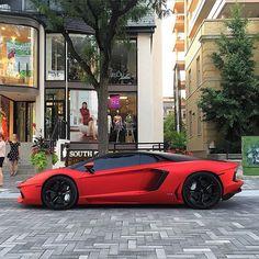 Satin Red Aventador Go follow @FeedMyCars for daily posts of exotic cars! @FeedMyCars @FeedMyPhone @FeedMyCars @FeedMyPhone