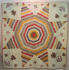 Star of Bethlehem quilt, pre-1860, Poos Collection. 2015 Tokyo International Quilt Festival.  Photo by Julie Fukuda, My Quilt Diary