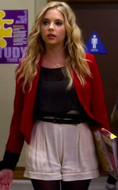 Hanna+Marin's+Red+Blazer+from+Pretty+Little+Liars:+Eye+of+the+Beholder+#ShopTheShows+#curvio