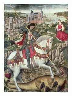 Today is St. George's Day ~ a day to celebrate all things English. Wear the national flower ~ a red rose.  http://farmersmarketonline.com/holiday/StGeorgesDay.html