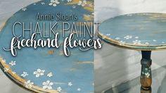 Hand painted flowers - Annie Sloan's chalk paint - Handmålade små blommor