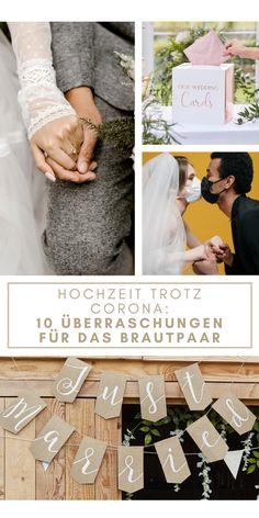 Hochzeit trotz Corona – Überraschungen für das Brautpaar Wedding Tips, Our Wedding, Dream Wedding, Spring Wedding, Save The Date, Perfect Wedding, Wedding Dresses, Gifts, Diy
