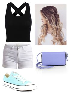 """""""A Day at an Amusement Park"""" by kicole878 on Polyvore featuring Pieces, Kara and Converse"""