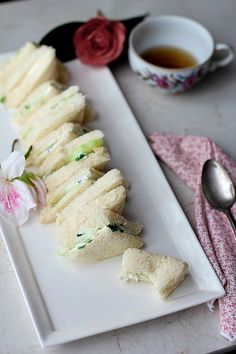 Tea Party Food (I like the egg salad sandwiches and  cucumber sandwiches and the artichoke dip and the sugar cookies)