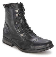 Handmade Men Military Style Leather Boots, Men Combat Boots, Men Ankle Boot - Boots