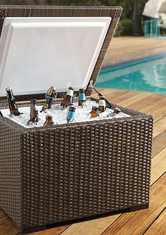 You'll love this woven ice chest to keep by the pool or outside during parties, and it looks great too!