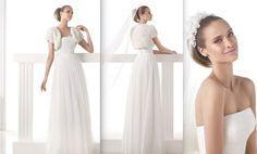 MICHIGAN Colección Modern Bride Vestido de novia de tul evasé con cuerpo de escote bañera drapeado. Falda fruncida en el talle. Desde 1.290,00 €*
