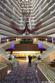 Atrium of the Marina Mandarin Singapore.