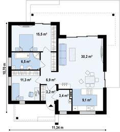 Каталог проектов домов до 100 кв. м. Выбрать готовый проект дома до 100 м. на сайте архитектурного бюро DOM4M.