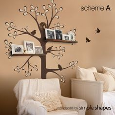 Wall Decals Baby Nursery Decor: New Style Shelving by SimpleShapes