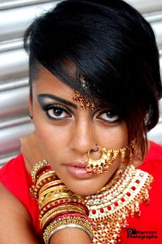 #india #makeup #jewellery #red