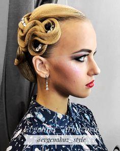 "29 Likes, 2 Comments - Evgeniia Arbuzova (@evgenabuz_style) on Instagram: ""Hairstyle by me for beautiful princess @_l_i_z_a_b_e_t_h_ #evgenabuzstyle#ballroom #ballroomdance…"""