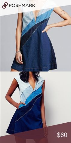 FREE PEOPLE Brand New With Tags Denim Dress Brand New With Tags FREE PEOPLE Denim Dress Size Medium Free People Dresses
