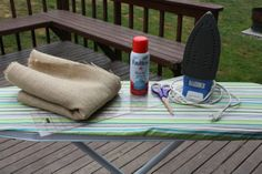 """Bella Vita Planning & Paper Co.: New Series! """"How To"""" - Working with burlap// spray starch? who knew?"""