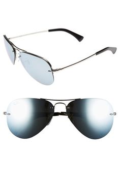 2c948f59150 Semi Rimless Aviator Sunglasses