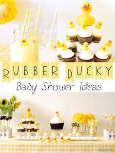 Rubber Ducky Baby Shower Ideas - Pink Ducky