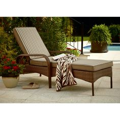 Mayfield Vintage Wicker Chaise Lounge  Relax in Style with SearsHampton Bay Fenton Adjustable Patio Chaise Lounge with Peacock and  . Sears Chaise Lounge Chairs Patio Furniture. Home Design Ideas