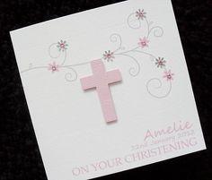 Stunning Baptism card
