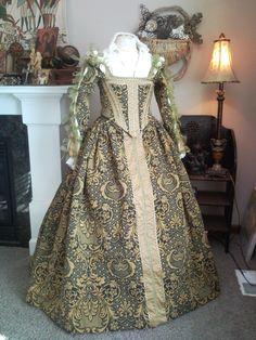 Renaissance Elenora gown MADE TO ORDER. $550.00, via Etsy.