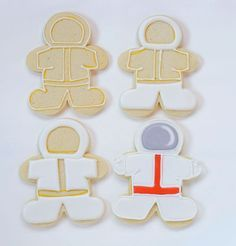 Outer Space Cookies - Simple sugar cookies decorated with royal icing- great for Earth Day and Birthday Parties via http://www.thebearfootbaker.com