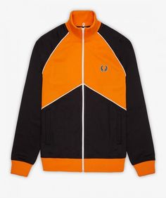 The Chevron Track Jacket is part of our Sports Authentic range, which revives the retro sportswear aesthetic once championed by football casuals and the stars of Britpop. The track jackets are based on designs from the Fred Perry archive, and Retro Sportswear, 1980s Design, Football Casuals, Britpop, Polo Shirts, Fred Perry, 1990s, Adidas Jacket, Chevron