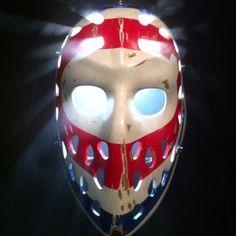 One of the coolest masks. Ken Dryden, Goalie Mask, Cool Masks, Hockey Goalie, Montreal Canadiens, Fun Games, Nhl, My Hero, Cool Stuff