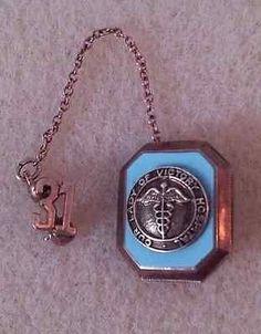 Vintage Our Lady of Victory Hospital OLV Medical Nursing Gold Pin