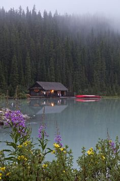 "Cabin at Lake Louise | Lake Louise, Banff National Park, Canada | by ""Appalachian dreamer on Flickr"""