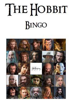 The Hobbit Bingo Party Game on Etsy, £1.22
