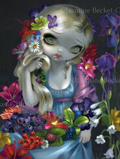 Flora flowers greek goddess mythology fairy art by strangeling