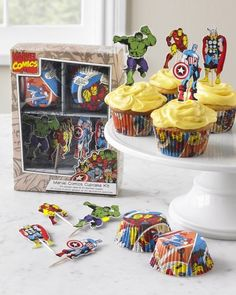 Time for some Captain America, Thor, and Iron Man cupcakes. And yeah, Hulk, too.
