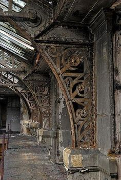 ART NOUVEAU DETAILS IN IRONWORK, NO LOCATION LISTED--SITE UNKNOWN. ARTICLE: Fifty-Nine Steampunk Fashion Ideas You Are Going to Love