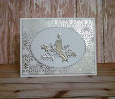 Ann Greenspan's Crafts: More Christmas Candle cards
