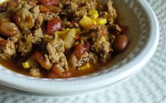 WW Low Fat Taco Soup:  10 servings; 3 pts. + 2 pts. for 9 chips, 239.6 calories, 1.4 g fat per serving