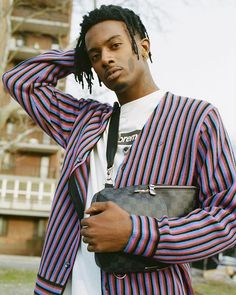 """""""Where I am from people are into designer brands but not like the cool ones just like any designer brand and I wasnt that type"""" says @playboicarti. The rapper talks about his sartorial evolution rise to fashion fame and first #NYFW experience in the link in our bio. Photographed by @nixonnixon. via VOGUE MAGAZINE OFFICIAL INSTAGRAM - Fashion Campaigns Haute Couture Advertising Editorial Photography Magazine Cover Designs Supermodels Runway Models"""