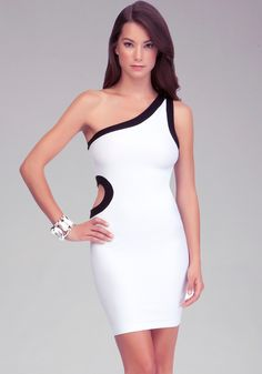 Contrast Side Cutout Dress
