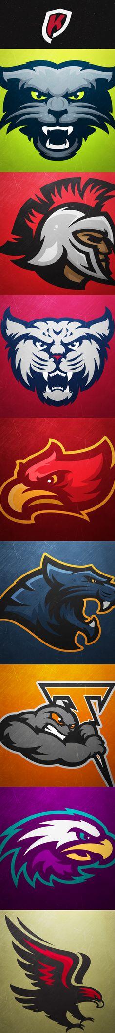 Sport Logo Design Icons Behance 67 New Ideas Sports Team Logos, Mascot Design, Branding, Badge Logo, Logo Concept, Animal Logo, Illustrations, Cool Logo, Art Logo