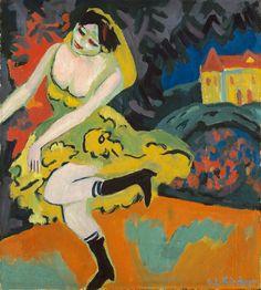 Ernst Ludwig Kirchner, Danseuse de variété, 1910