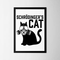 Schrödinger's Cat - Northshire - Metal Wall Art - Metal Wall Decor    #interior #wallart #interiors #interiordesign #inspiration #decor #decoration #design #ideas #giftideas #art #artforsale #artoftheday #designer #handmade #homedecor #home #print #artprint #poster #decorationideas #conceptdesign #styling #office #wallart #walldecor #minimal #black #bw #blackwhite #cat #shrödinger #schrödingerscat