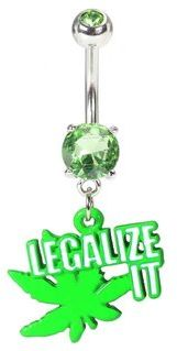 #bellybling.net           #ring                     #Legalize #Leaf #Belly #Button #Ring                Legalize It Pot Leaf Belly Button Ring                                        http://www.seapai.com/product.aspx?PID=687830
