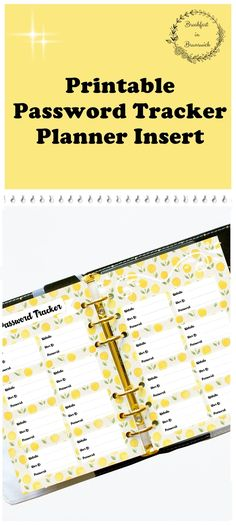 Password Tracker 2018, Password log Personal Size, Filofax Inserts