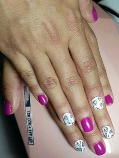 #nailart #naildesigns #pink #white #nails