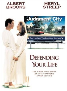 Defending Your Life Starring Albert Brooks and Meryl Streep. As a couple who fall in love after death but there's so much more to the story than that. I find it uplifting and funny. Albert Brooks is such a great writer. Meryl Streep, Funny Movies, Great Movies, 90s Movies, Barack Obama, Albert Brooks, Life Online, Movies Worth Watching, Drama